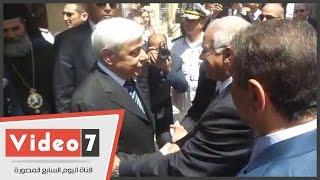 بالفيديو..الرئيس اليونانى يشهد افتتاح دير مارى جرجس بمصر القديمة