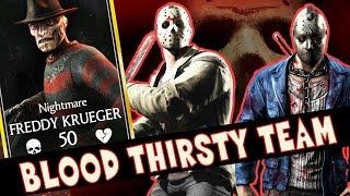 FREDDY KRUEGER, SLASHER JASON AND RELENTLESS JASON (MKX Mobile). THE BLOODIEST TEAM EVER!