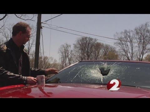 Overpass Hits Man's Car