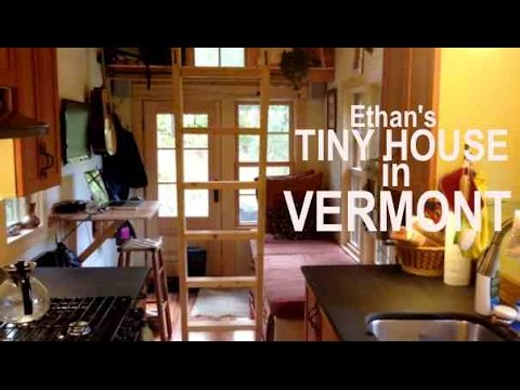 Ethan's Tiny House in Vermont- Copper Showers and Secret Pet Doors...