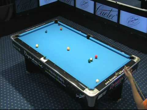 European Pool Championships Seniors 2011 Pereira (PORT) vs Worung (NED) 10-ball (part2)