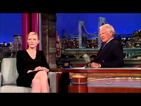 Cate Blanchett  David Letterman show 22 07 2013