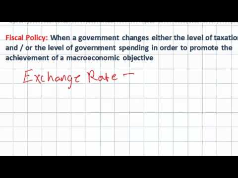 Introduction to Fiscal Policy - Expansionary vs. Contractionary Policies