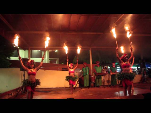 Traditional Fire Chamorro Dancers in Guam.