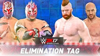 WWE 2K17 The Lucha Dragons vs Sheamus Cesaro | ELIMINATION TAG TEAM MATCH | PS4 Gameplay