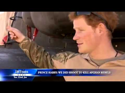 Prince Harry: We did shoot to kill Afghan rebels