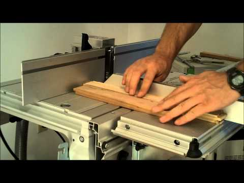 Making a Shaker style cabinet door with the Festool CMS router table.