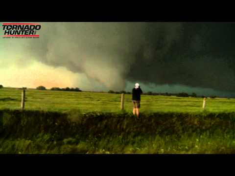 Too Close For Comfort Today At A Violent Oklahoma Tornado. El Reno - May 31, 2013