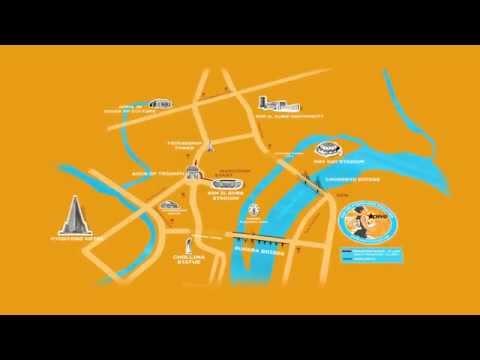 Pyongyang Marathon Route Map