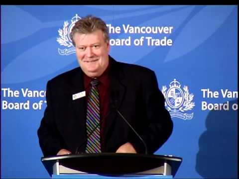B.C. Minister of Energy and Mines Rich Coleman addresses The Vancouver Board of Trade