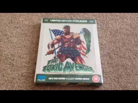 The toxic avenger UK Blu-ray steelbook unboxing