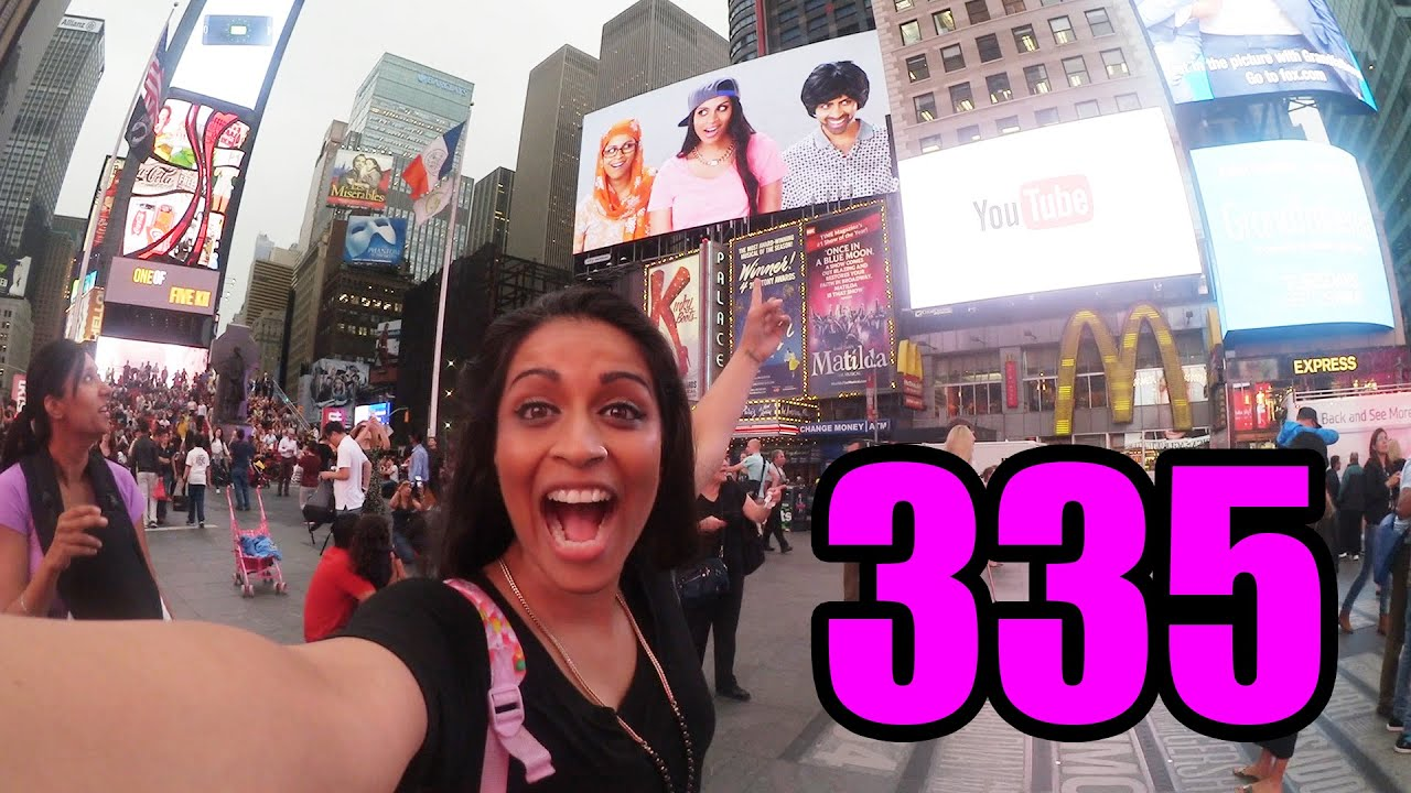 "WE'RE IN TIMES SQAURE!! #TeamSuper made it on to the huge screens in New York City! Check out my vlog where I see them and click that [SUBSCRIBE] button to help #TeamSuper get to 1M Subscribers!   <a href=""https://www.youtube.com/watch?v=oGhrpRgjOis"" class=""linkify"" target=""_blank"">https://www.youtube.com/watch?v=oGhrpRgjOis</a>"