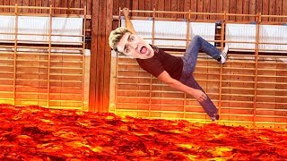 MY SCHOOL IS FILLED WITH LAVA (The Floor Is Lava)?! - Hot Lava #1