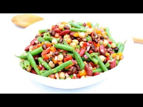 Healthy Four Bean Salad | Clean & Delicious