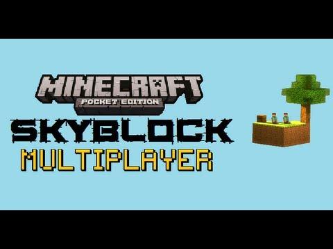 SkyBlock Multiplayer   Minecraft:PE   Episode:1 Cobble & Fail.