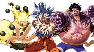 Goku VS Naruto VS Luffy POWER LEVELS Evolution (All Forms)