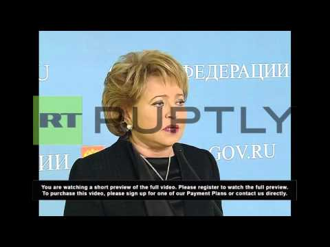 Russia: Threat to Russians in Ukraine is real, Valentina Matvienko