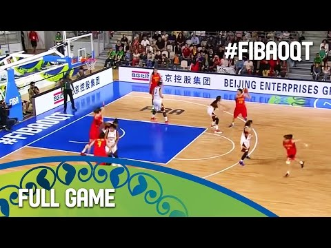 Venezuela v China - Full Game - Group D - 2016 FIBA Women's Olympic Qualifying Tournament