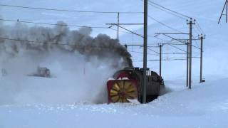 Switzerland - RhB Steam Snow Blower - Steam power only, 2011