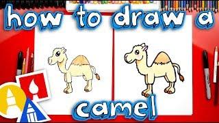 How To Draw A Cartoon Camel