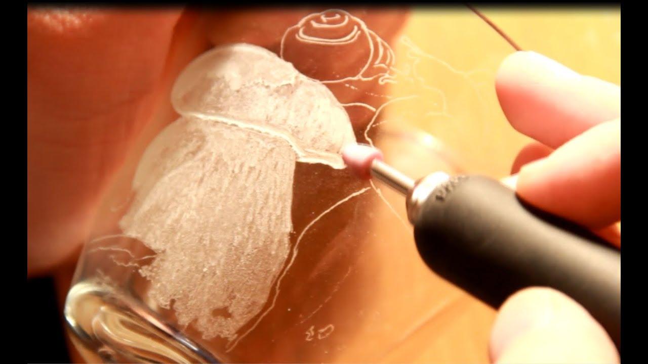 Как на стекле сделать гравировку на