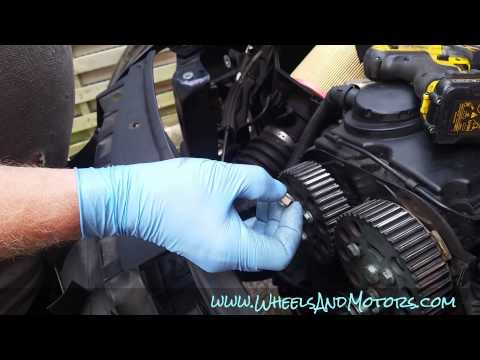 How To Replace Timing Belt Cambelt And Water Pump On 2 0 Tdi Engine Audi A6 C6 4f Youtube