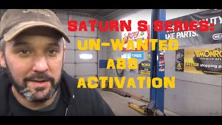 Saturn S Series - Unwanted ABS Activation At All Speeds