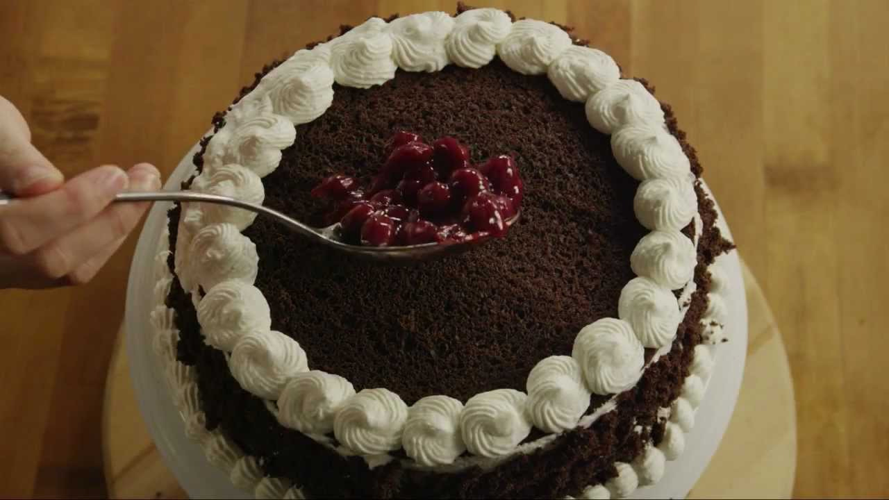 How To Decorate A Black Forest Cake