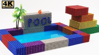 DIY How To Make Beautiful Swimming Pool with 12000 Magnetic Ball (ASMR)   Magnet World 4k
