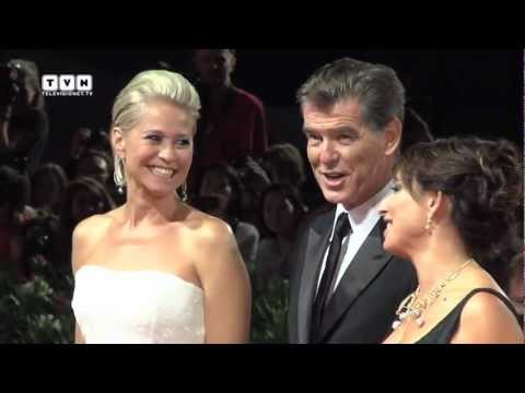 69th Venice Film Festival - Pierce Brosnan and Olga Kurylenko on the red carpet