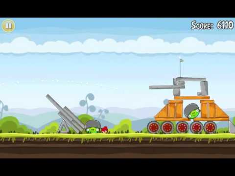 Official Angry Birds walkthrough for theme 4 levels 6-10