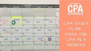 CPA Study Plan | How to Pass the CPA in 4 Months