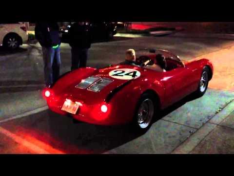 1955 Porsche 550 Spyder Start up & Acceleration!