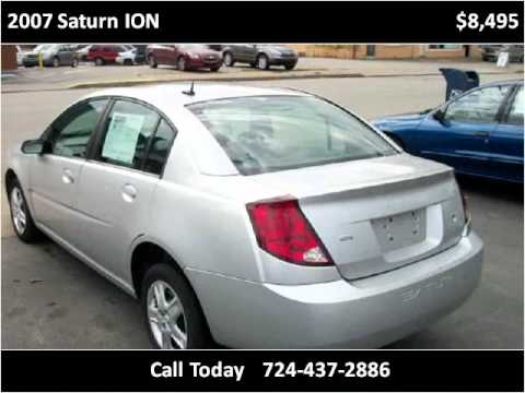 2007 Saturn ION Used Cars Uniontown PA