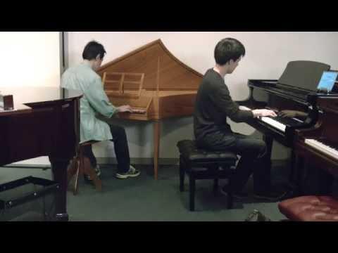 アンドレ・ギャニオン「めぐり逢い」を、ピアノとチェンバロで即興演奏!