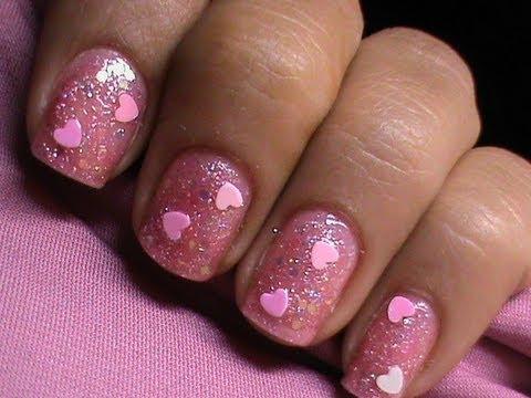 Cute Pink Glitter Nail Polish