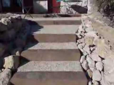 Escalier béton préfabriqué exterieur