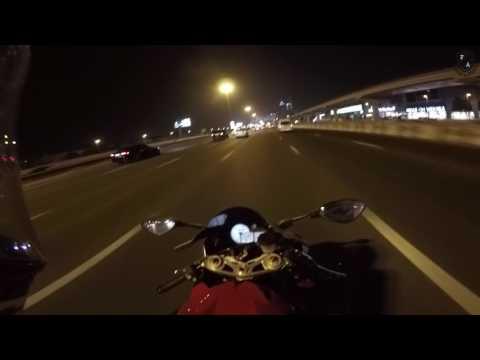 porsche 911 VS BIKE FUN  and Dubai bike licence S1000RR BMW