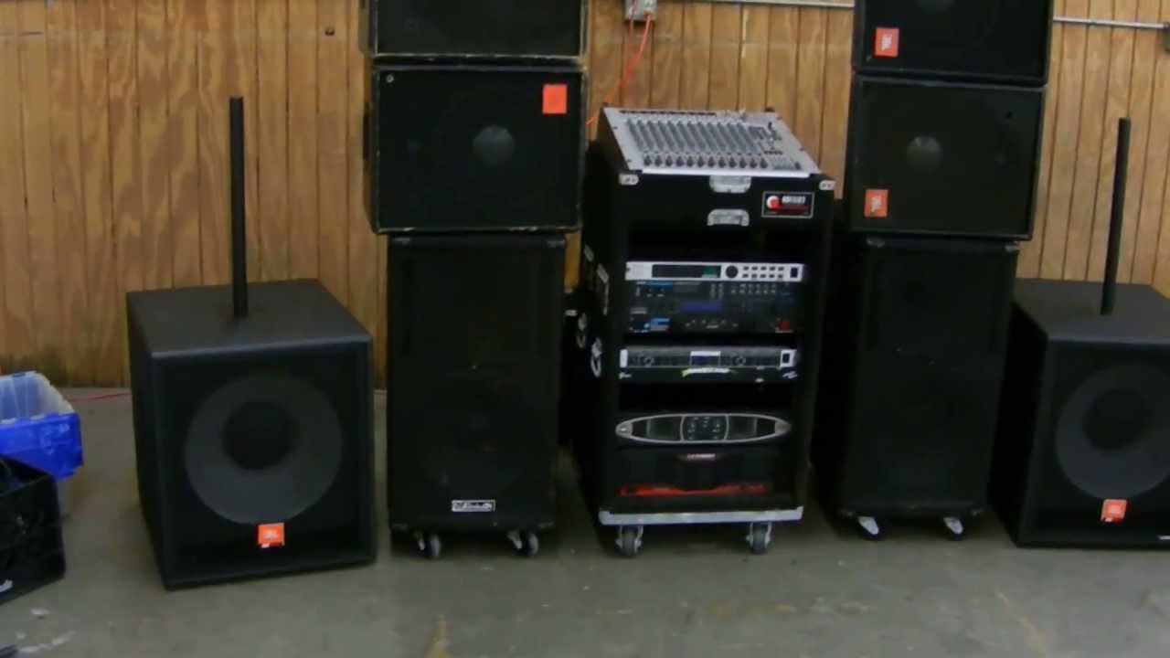 Crown Ev Jbl Pa System Complete W Effects And Monitors
