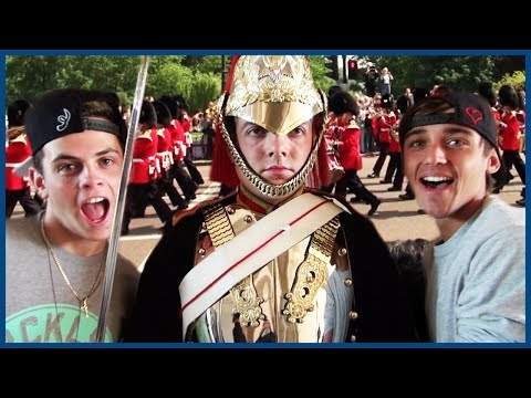Janoskians Try to Make London Guards Laugh - European Vacation Ep 2
