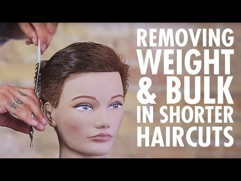 Texturizing Technique for Weight & Bulk Removal in Shorter Haircuts