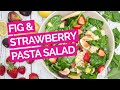 Fig, Strawberry & Spinach Salad with Lemon Cucumber, Pearl Couscous