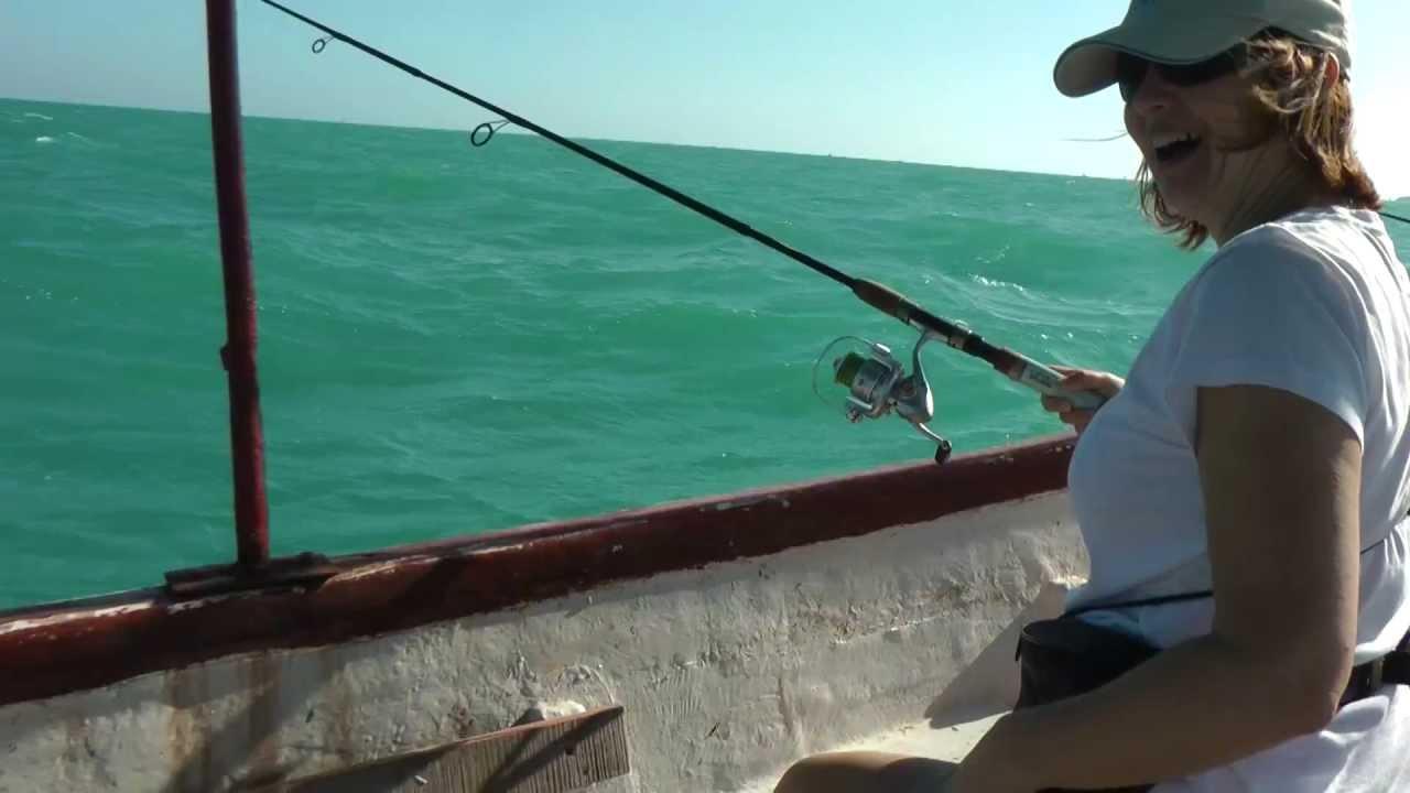 Fishing in progreso mexico yucatan peninsula youtube for Fishing in mexico