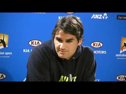 Roger Federer press conference Video