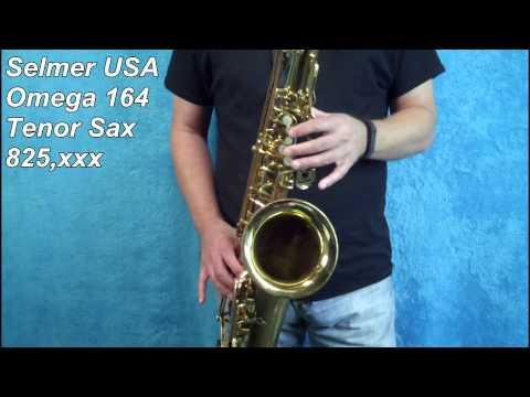 Selmer Usa 164 Omega Tenor Sax 825 Xxx video