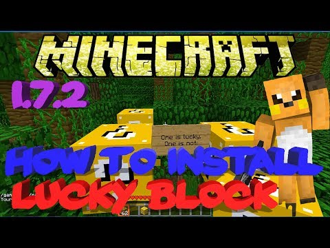 ★ How To Install Lucky Blocks Mod 1.7.2