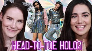 We Got A Head-To-Toe Holographic Makeover (feat. Simply Nailogical)