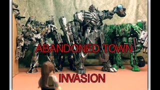 Junkyard Evacuation + Abandoned Town Invasion - Transformers The Last Knight Stop Motion