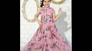Beautiful New collection of baby girl gown dresses | Kids Latest dress collections_2017
