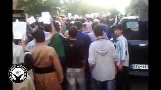 تظاهرات شهروندان مریوانی و مهابادی در حمایت از کوبانی